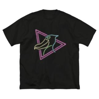 ハシビロコウ Shoebill 80's Big Silhouette T-Shirt