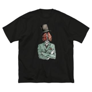 肺伯爵 Big silhouette T-shirts