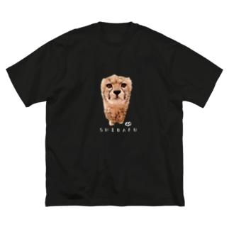 ど真ん中しばふちゃん Big silhouette T-shirts
