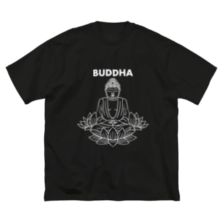 BUDDHA-仏像- 白ロゴ Big Silhouette T-Shirt