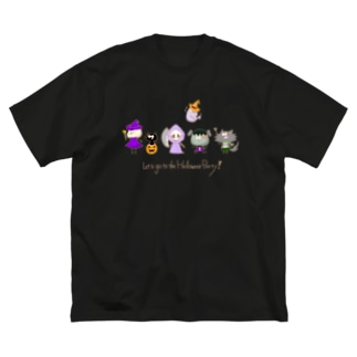 Let's go to the Halloween Party! Big Silhouette T-Shirt