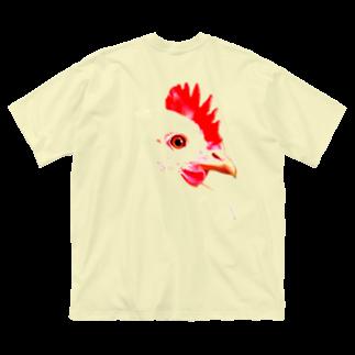 うずぴよのにわとり Big silhouette T-shirts