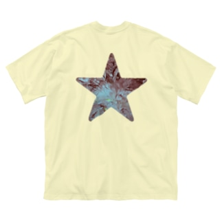 Aqua star Big silhouette T-shirts