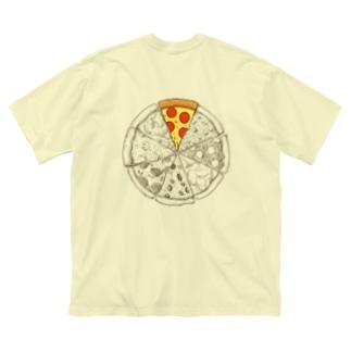 ピザシリーズ Big silhouette T-shirts