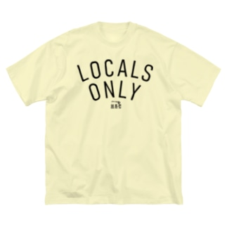 LOCALS ONLY  BLK LOGO Big silhouette T-shirts