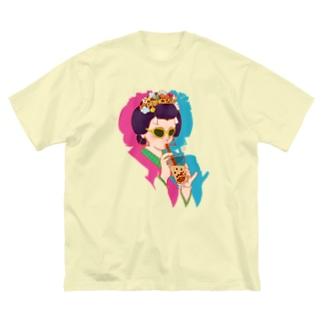 タピ姫A Big silhouette T-shirts