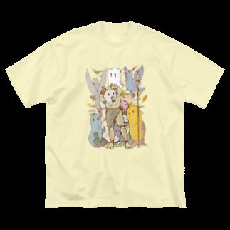 Dark blancoのゴミ山の戦士 Big silhouette T-shirts