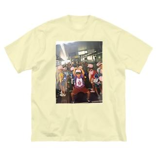 ◼︎中 勇 気のお調子者シリーズ Big silhouette T-shirts