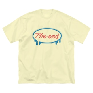 the end Big silhouette T-shirts