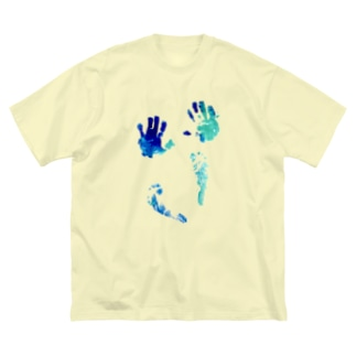 hand and foot Big silhouette T-shirts