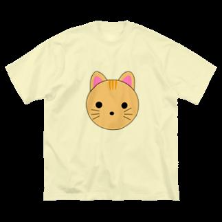 まるまるあにまるズ(仮)の茶トラちゃん Big silhouette T-shirts