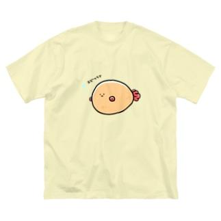 きのぬけたエビフライの会 Big silhouette T-shirts