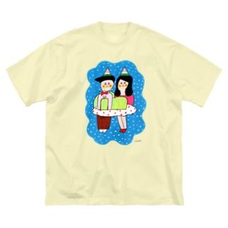 家族写真 Big silhouette T-shirts