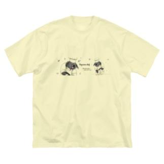 【ビントロングキングダムシリーズ】ビントロングのポップコーンシェフ ~おかわり~ Big silhouette T-shirts