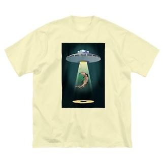キャトられアオジタ Big silhouette T-shirts