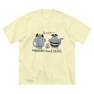 ふろあがりちゃん&弟子 蜂バージョン Big silhouette T-shirts
