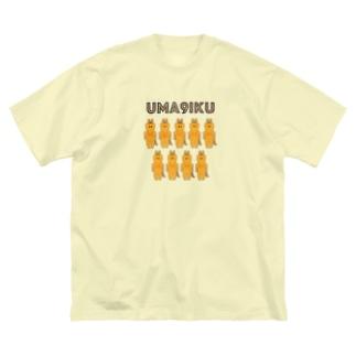 うまくいく服(オレンジ馬) Big silhouette T-shirts