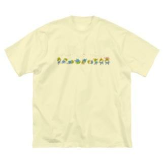 でんぐり返し Big silhouette T-shirts