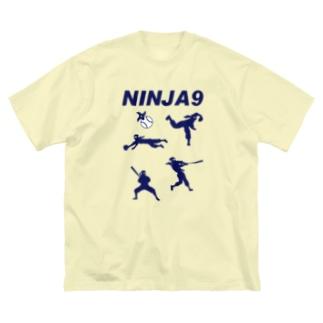 忍者野球 Big silhouette T-shirts