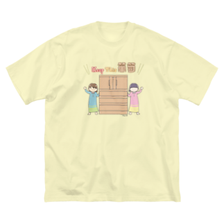 かきくんとぽーちゃん。のKeepThisタンス Big silhouette T-shirts