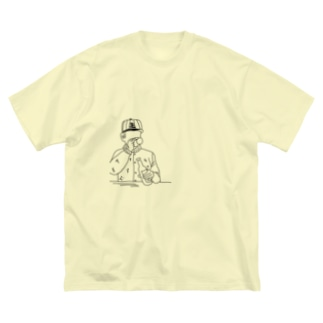 beer chill ankle  Big silhouette T-shirts