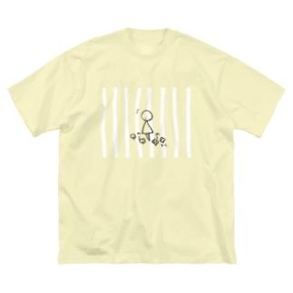 まるさんかくの日々 いいことみつけた ボーダー Big silhouette T-shirts