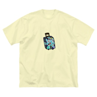 ラクガキヤぐっず♨︎のマコのお絵かきトランク Big silhouette T-shirts