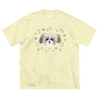 シーズー Big silhouette T-shirts