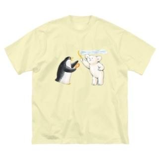 マールとショーイ シャボン玉 Big silhouette T-shirts