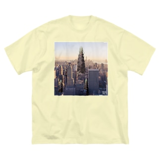 TAKENOKO CITY Big silhouette T-shirts