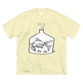 きんぎょ君。 Big silhouette T-shirts