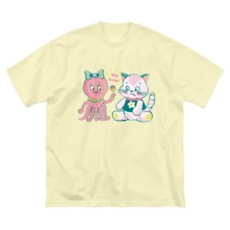 Ma cocotte タコネコ Big silhouette T-shirts