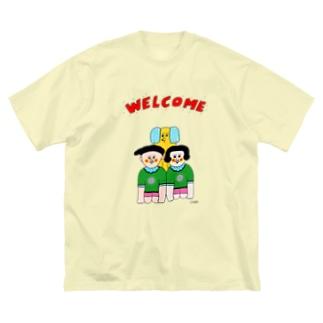 ウェルカム一家 Big silhouette T-shirts