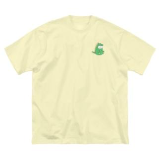 ねこタイツ かいじゅう Big silhouette T-shirts