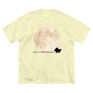 LePuyの🐇there is a rabbit in the moon. Big silhouette T-shirts