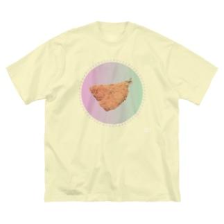 おしゃれなアジフライ Big silhouette T-shirts