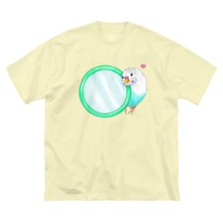 Lily bird(о´∀`о)の鏡大好きピーコちゃん① Big silhouette T-shirts