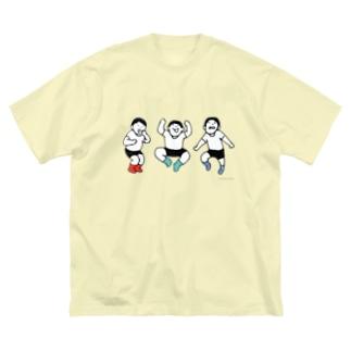 元気な人(3人) Big silhouette T-shirts