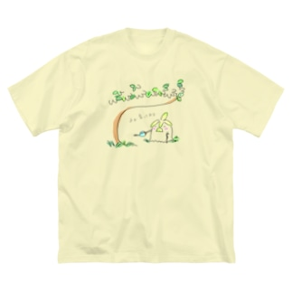 長老の盆栽 Big silhouette T-shirts