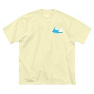 クラウド Big silhouette T-shirts