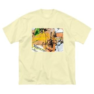 徹夜明けの頭ン中。 Big silhouette T-shirts