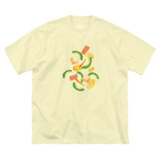 ごーやちゃんぷるー Big silhouette T-shirts