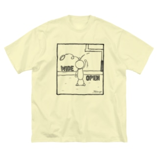 PBスティック君 wide open  Big silhouette T-shirts