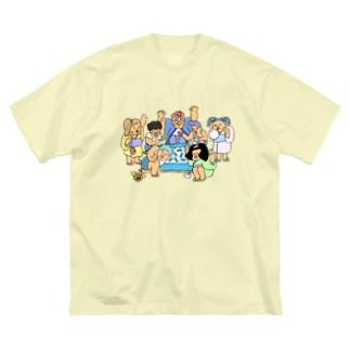 夏祭り Big silhouette T-shirts
