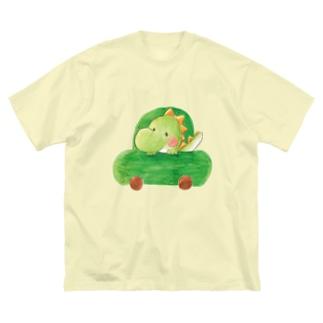 ぶーぶー恐竜くん Big silhouette T-shirts