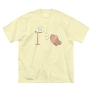 いとでんわ Big silhouette T-shirts