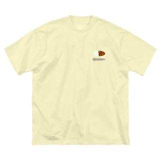 カトラリープラナリア Big silhouette T-shirts