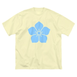 明智光秀(水色桔梗紋) Big Silhouette T-Shirt