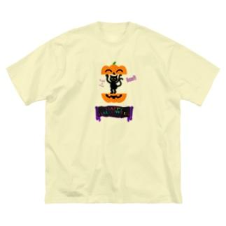 かぼちゃねこ🎃2020 Big silhouette T-shirts