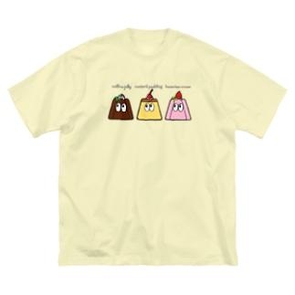 デザート/モンスター Big silhouette T-shirts